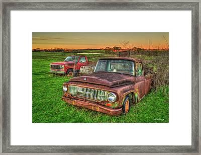 Trusted Old Friend 1965 International Harvester Company Pickup Truck Art  Framed Print by Reid Callaway
