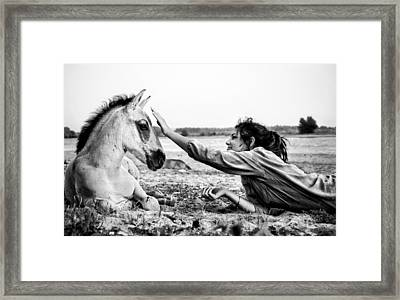 Trustful Friendship  Framed Print by Justyna Lorenc