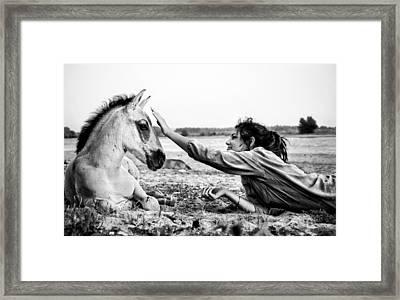 Trustful Friendship  Framed Print