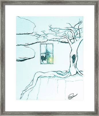 Framed Print featuring the drawing Truth by Elly Potamianos