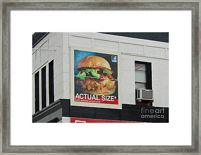 Truth In Advertising Framed Print