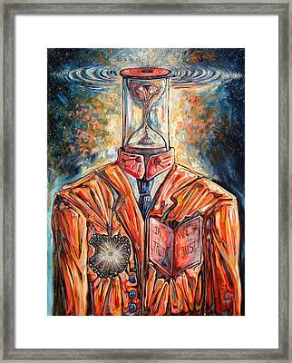 Truth Running Out Of Time Framed Print by Darwin Leon