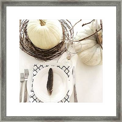 Try A Square Fold On Your Linen Napkins Framed Print