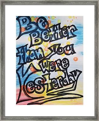 Try Framed Print