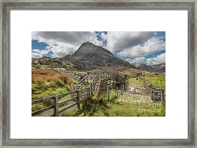 Tryfan And The Ogwen Valley Framed Print by Adrian Evans