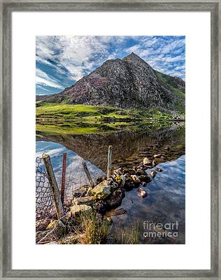 Tryfan Reflections Framed Print by Adrian Evans