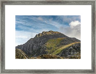 Framed Print featuring the photograph Tryfan Snowdonia by Adrian Evans