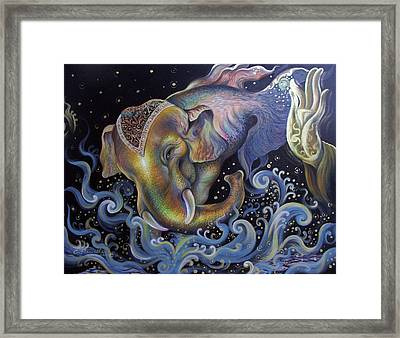 Framed Print featuring the painting Trying by Chonkhet Phanwichien