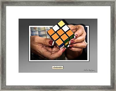 Trying Framed Print by Nelson Rodriguez