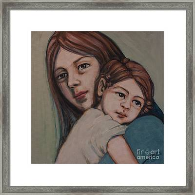 Framed Print featuring the painting Trying To Remember by Olimpia - Hinamatsuri Barbu