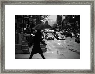 Framed Print featuring the photograph Trying To Stand Out  by Empty Wall