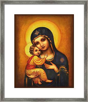 Tryptichon Madonna Framed Print by Ananda Vdovic