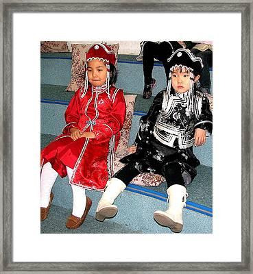 Tsagaan Sar Girls Framed Print