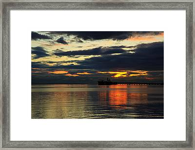 Tsawassen Sunset Framed Print