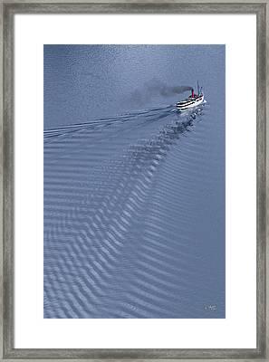 Tss Earnslaw Framed Print by Andrea Cadwallader