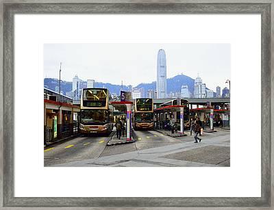 Tst Bus Terminal Framed Print by Manson Lee
