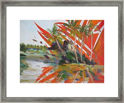 Tsunami Framed Print by Art Nomad Sandra  Hansen