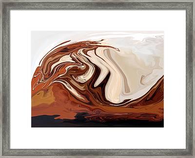 Tsunami Iv Framed Print by Pauline Thomas