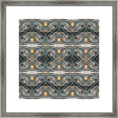 Tsunami Mirror Pattern Framed Print