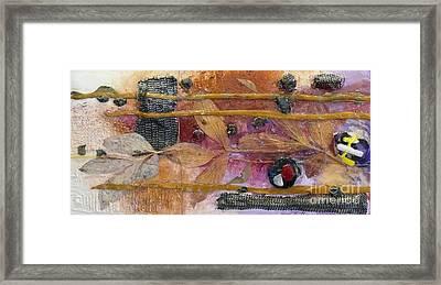 Framed Print featuring the mixed media Tsunami by Terri Thompson