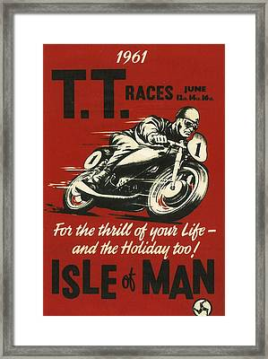 Tt Races 1961 Framed Print