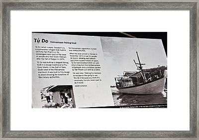 Tu Do Information Board Framed Print