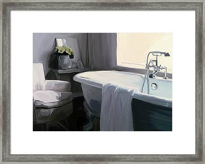 Tub In Grey Framed Print