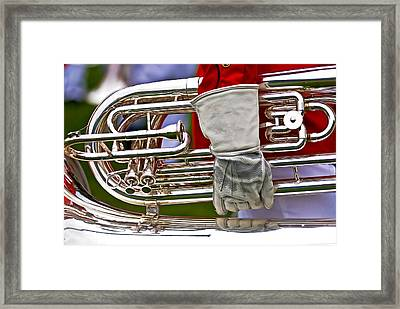 Tuba Player. Usmc Band Framed Print
