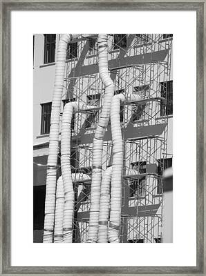 Tube Construction Framed Print by Rob Hans