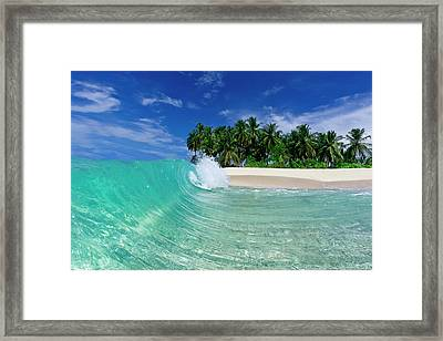 Tube Island Framed Print
