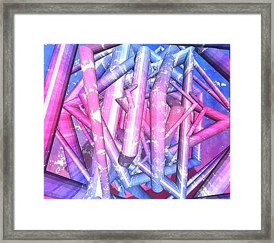 Tube Framed Print by Mark Taylor