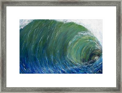 Tube Of Water Framed Print by Tony Rodriguez