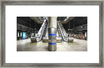 Tube Station Framed Print by Svetlana Sewell