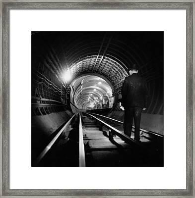 Tube Tunnel Cleaner Framed Print by Charles Hewitt