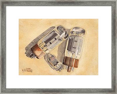 Tubes Framed Print by Ken Powers