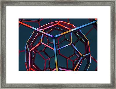 Tubes Of Light - Crystal Bridges Museum Of American Art Framed Print