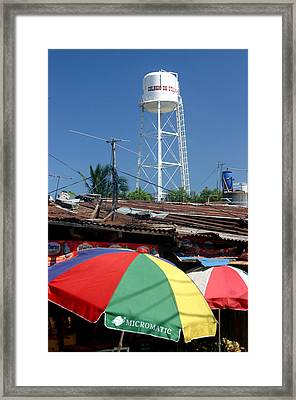 Tubig Tower 4 Framed Print by Jez C Self