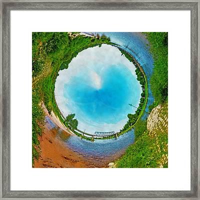 Tubular Panorama Deventer Framed Print