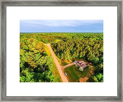 Tucked Away 2 - Aerial Rural Landscape Framed Print by Barry Jones