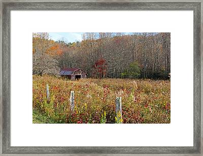 Tucked Away - Barns Framed Print by HH Photography of Florida