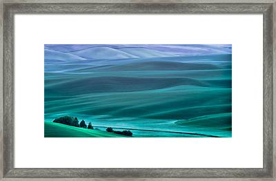 Tucked In The Hills Framed Print by Don Schwartz