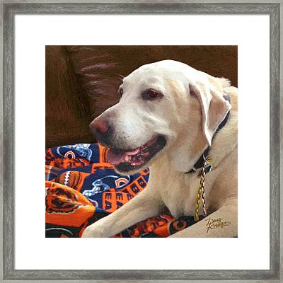 Tucker Framed Print