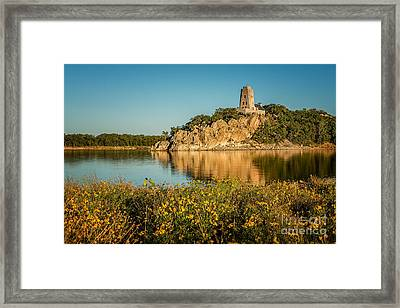 Tucker's Tower And Wildflowers Framed Print by Tamyra Ayles