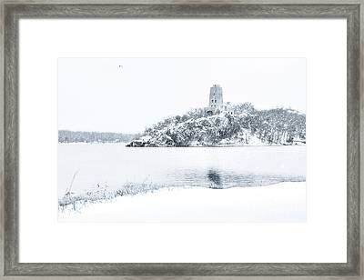 Tucker's Tower In Winter Framed Print by Tamyra Ayles