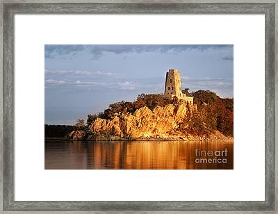 Tucker's Tower Sunset Glow Framed Print by Tamyra Ayles
