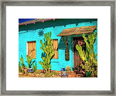 Tucson Blue Framed Print