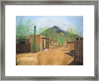 Tucson Ranch Framed Print