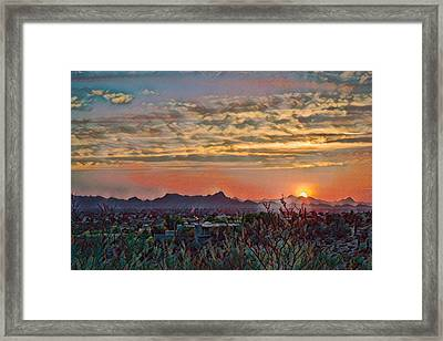 Framed Print featuring the photograph Tucson Sunset Remix by Dan McManus
