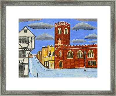Tudor House In Exeter  Framed Print