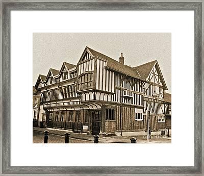 Tudor House Southampton Framed Print by Terri Waters